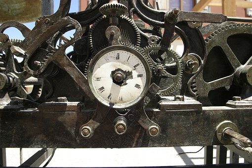 Clock, Cogs, Wheels, Antique, Mechanism, Mechanical
