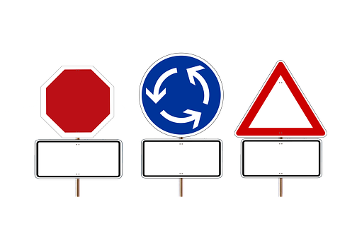 Road Sign, Stop, Shield, Attention, Traffic Sign