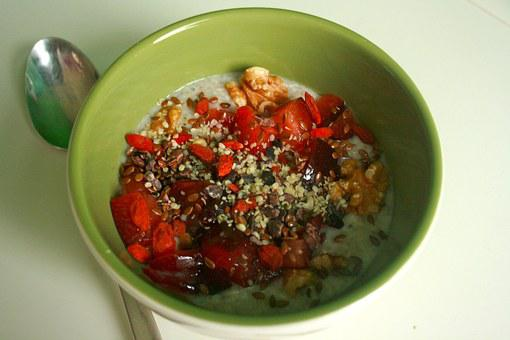 Walnut, Goji Berries, Oatmeal, Breakfast