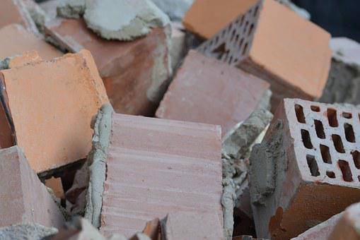 Bricks, Stones, Building Blocks, Demolition, Build