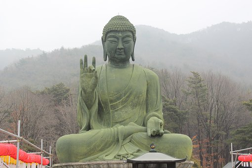 Bronze Amitabha Statue, Cheonan, Taejo Mountain
