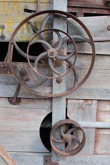 Wagon, Wheel, Antique, Vintage, Gear, Cog