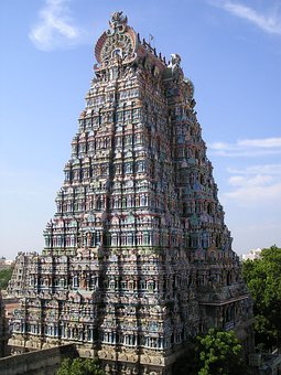 India, Temple, Tower, Colorful, Decorated, Holy