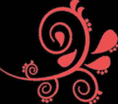 Scroll, Fleur-de-lis, Tattoo, Design, Decoration