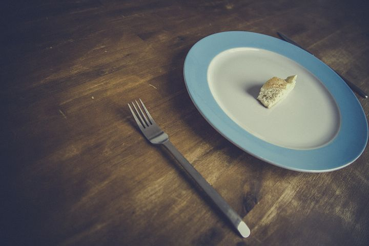 Bread, Diet, Fork, Knife, Minimalism, Plate, Table