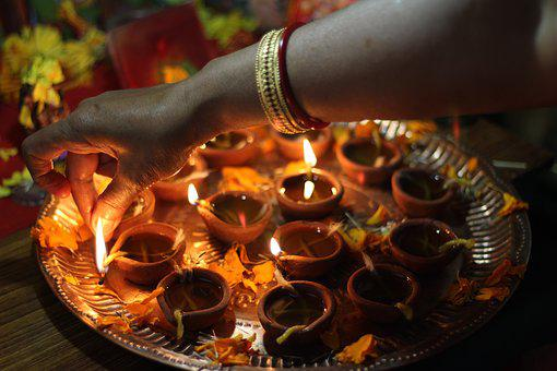 Diwali, Diya, Occasion, Candles, Arm, Fire, Religion