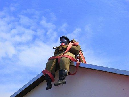 Fire Fighter, Roof Figure, Fire