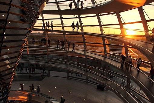 Hotels In Berlin, Reistag, Sunset, Germany, City