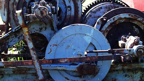 Gears, Machine, Old, Mechanical, Industry, Mechanism
