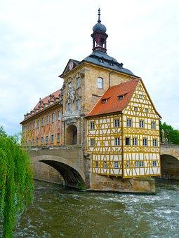 Bamberg, Architecture, Historic, Water, River, Landmark