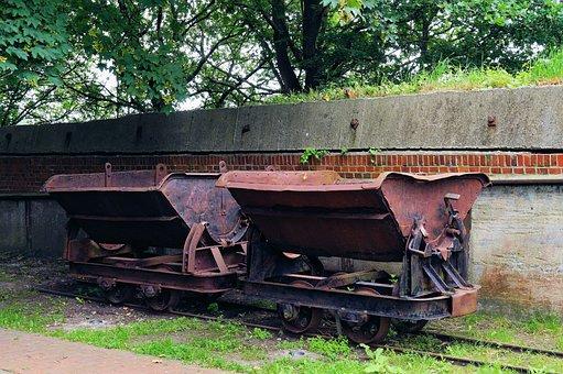 Transport Trolley, Lore, Pebble, Old, Rusty