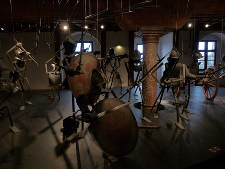 Knight, Middle Ages, Marionette Theatre, Installation