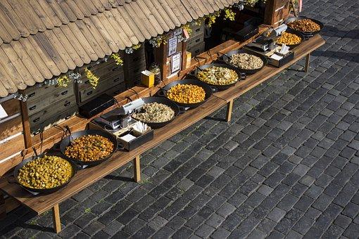 Food, Street, Market, Prague, Easter