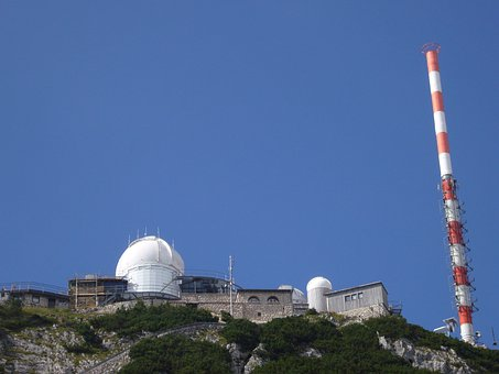 Wendelstein, Mountain, Sky, Weather Station