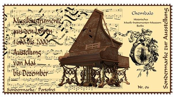 Stamp, Harpsichord, Musical Instrument, Museum