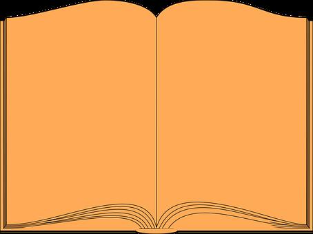 Book, Historic, Blank, Literature, Orange, Lore