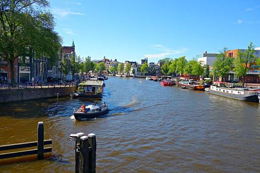 Amsterdam, Amstel River, City Center, Panorama, Dutch