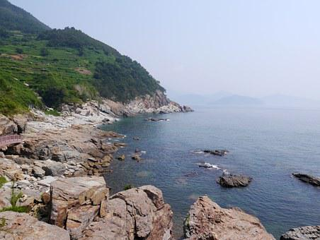 Yeosu, Travel, Republic Of Korea, Sea, Namdo, Nature