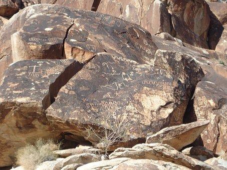 Ancient, Indian, Rock Drawings, Laughlin, Nevada