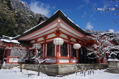 Japan, Kyoto, Side Horse, Kurama Temple, Snow