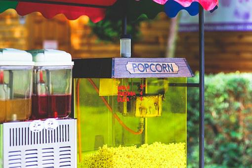 Popcorn, Street, Food, Outisde