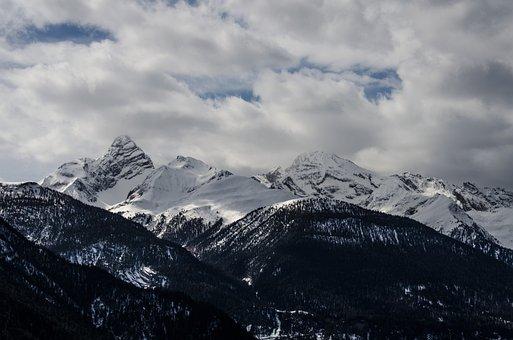 Davos, Mountains, Switzerland, Clouds