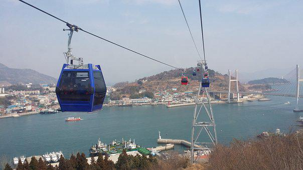 Yeosu, The Cable Car, Travel