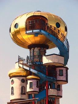 Hundertwasser, Tower, Kuchlbauerturm, Artwork