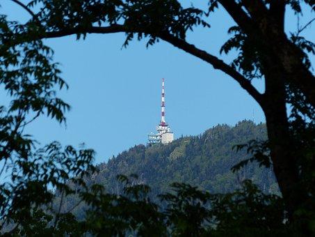 Transmission Tower, Transmitting Antenna, Mountain