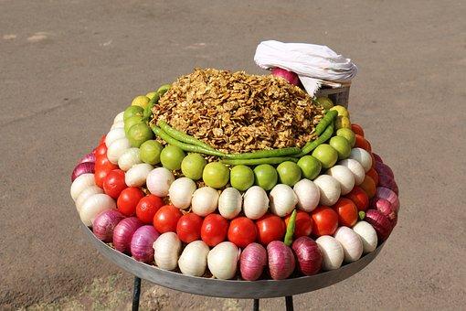 Vegetables, Vendor, Street Food, Cart, Snack, Stall