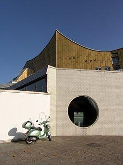 Vespa, Opera, Berlin, Architecture, Landmark, Dome