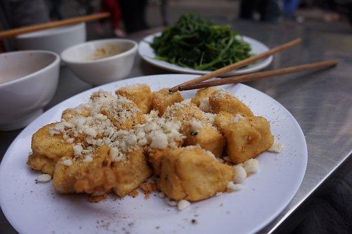 Tofu, Fried, Fried Tofu, Vietnam, Backpacking, Food