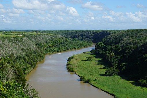 River, Chavon, Landscape, Altos De Chavón, Village