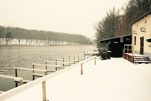 Winter, Lake, Snow, Water, Cold, Uwer, Jetty, Rest, Icy