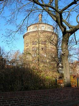 Water Tower, Berlin, Pankow, Architecture, Monument