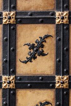 Goal, Door, Wood, Metal, Brass, Old, Access, Antique