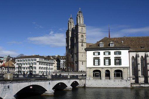Zurich, Grossmünster, Church Tower, Church, Tower