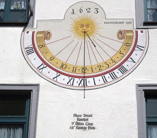 Sundial, Time, Clock, 1623, House Spirit To The Holy