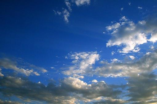 Blue Sky And Clouds, Sky, Blue, Clouds, White
