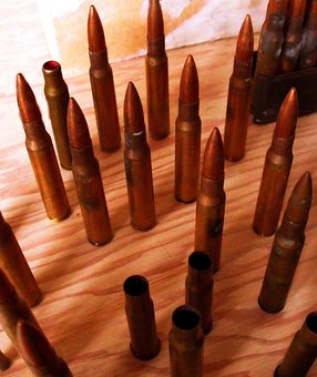 Bullets, Shells, Ammunition, Brass, Cartridge, Ammo