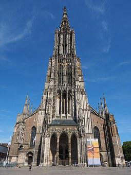 Ulm Cathedral, Muesterplatz, Münster, Building, Church