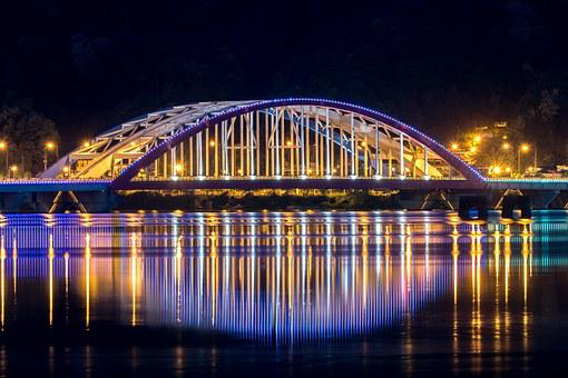 Chuncheon, Landscape, Night View, Lighting, City, Night