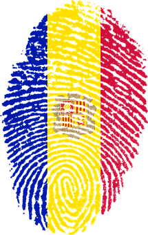 Andorra, Flag, Fingerprint, Country, Pride, Identity