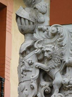 Blason, Statue, Sculpture, Exterior, Arms, Medieval