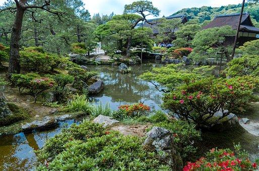 Ginkaku-ji Gardens, Kyoto, Japan, Nature, Flowers