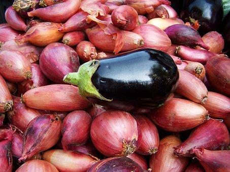 Eggplant Hagymaágyon, Vegetables, Food
