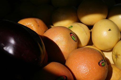 Orange, Eggplant, Friuts, Fresh, Food