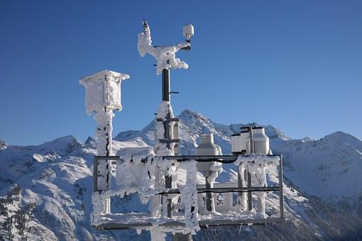 Send System, Antennas, Technology, Winter, Frost, Cold