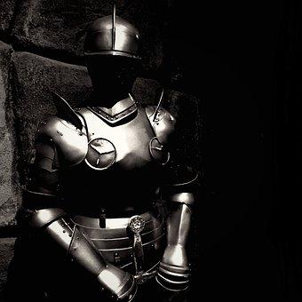 Knight, Full Armed, M, Medieval, Armor, Soldier, Helmet