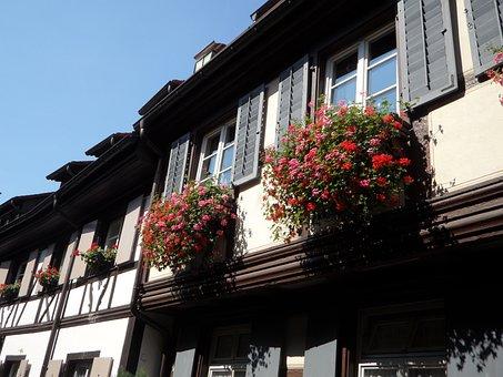 Houses, Facade, Building, Angel Lane, Gengenbach